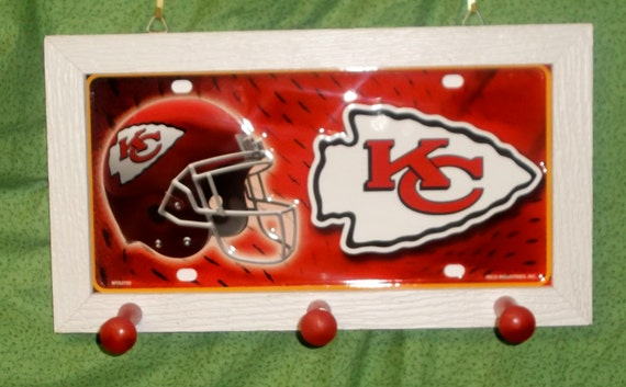 Kansas City Chiefs License Plate Peg Hanger