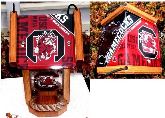 South Carolina (USC) Game Cocks Two-Sided Cedar Bird Feeder (SI Series)