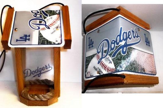 LA Dodgers Two-Sided Cedar Bird Feeder