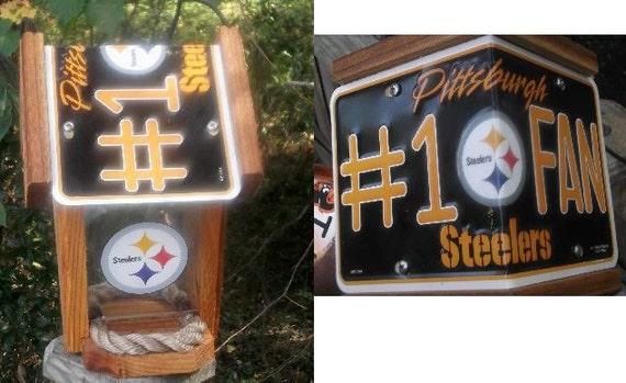 Pittsburgh Steelers #1 Fan Two-Sided Cedar Bird Feeder