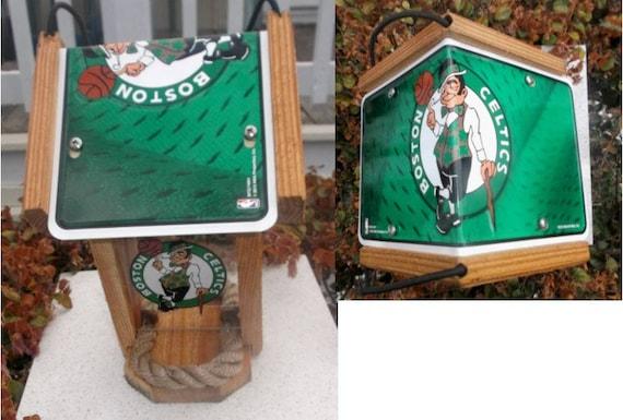 Boston Celtics Cedar Two Sided Bird Feeder