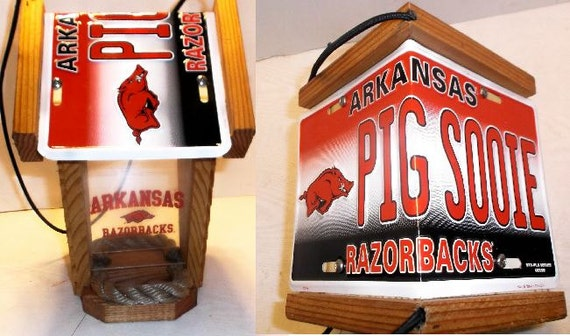 Arkansas Razorbacks Two-Sided  Cedar Bird Feeder