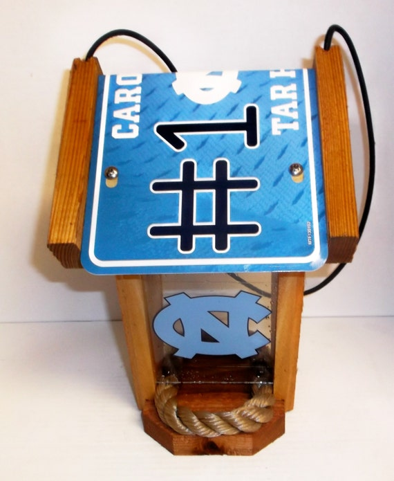 NC Tar Heels #1 Fan Two-Sided Cedar Bird Feeder