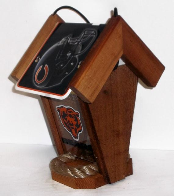 Chicago Bears  Two-Sided Cedar Bird Feeder