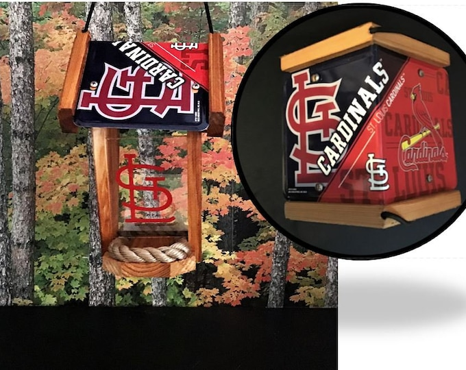 St. Louis Cardinals Two-Sided Cedar Bird Feeder (SI Series)