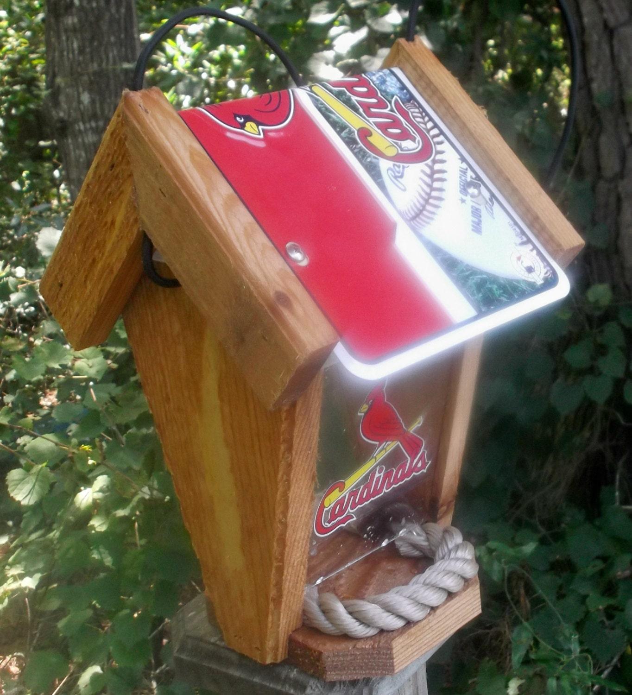 St. Louis Cardinals Two-Sided Cedar Bird Feeder