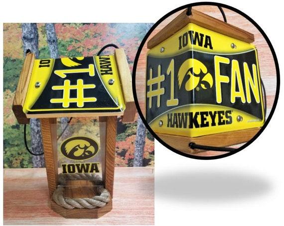 Iowa Hawkeyes #1 Fan Two-Sided Cedar Bird Feeder