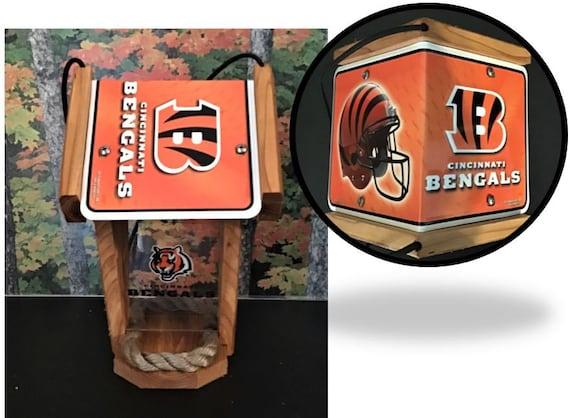 Cincinnati Bengals Two-Sided Cedar Bird Feeder