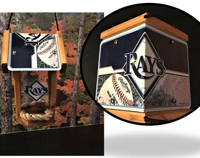 Tampa Bay Rays Two-Sided Cedar Bird Feeder
