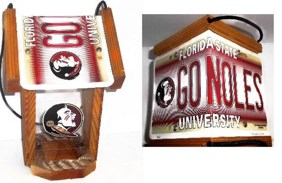 Florida State Seminoles Two-Sided Cedar Bird Feeder