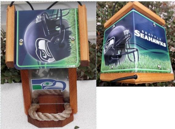 Seattle Seahawks Two-Sided Cedar Bird Feeder