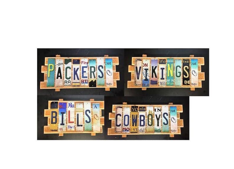 NFL Cut License Plate Strip Sign image 0