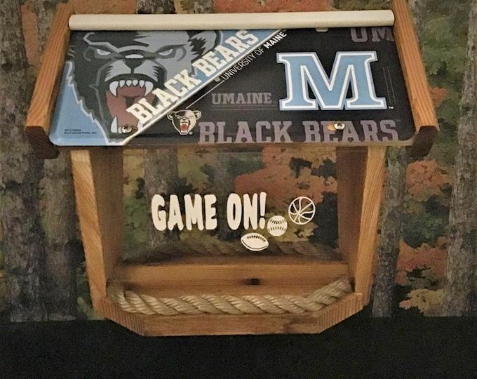 Maine University Black Bears Deluxe Cedar Two Sided Bird Feeder