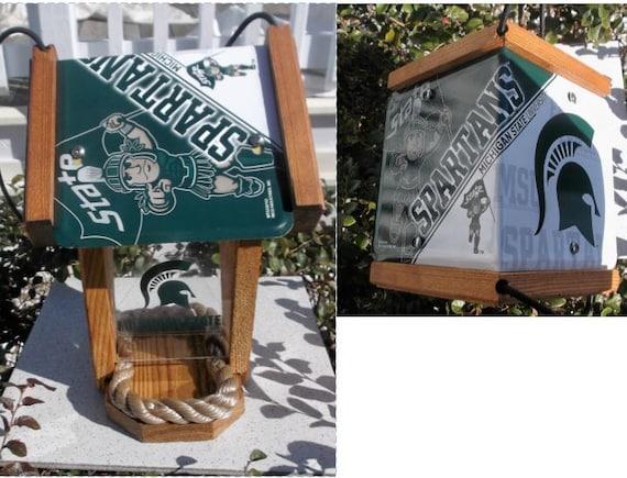 Michigan State University Spartans Two-Sided Cedar Bird Feeder (SI Series)
