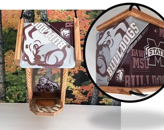 Mississippi University Bulldogs Two-Sided Cedar Bird Feeder (SI Series)