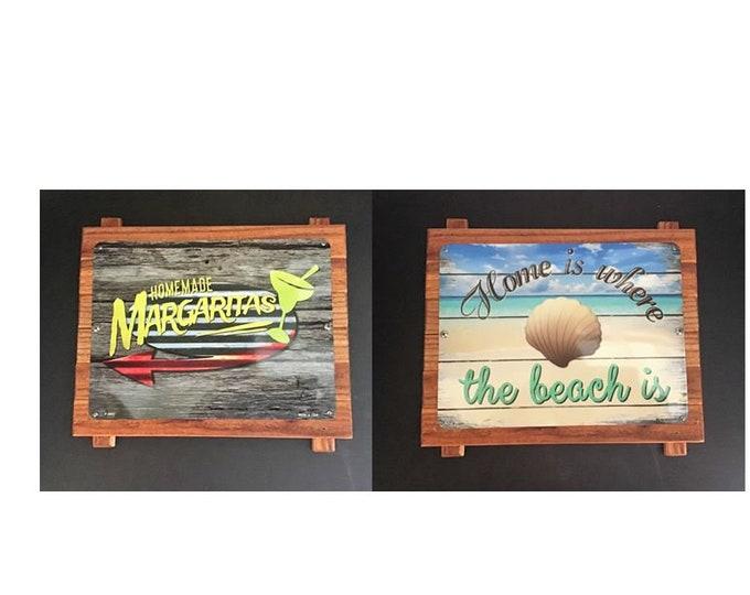 Cedar wooden/aluminum signs