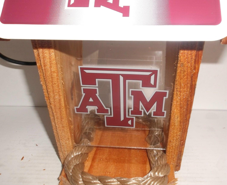 Texas A Amp M University Two Sided Cedar Bird Feeder