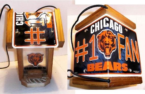Chicago Bears #1 Fan Two-Sided Cedar Bird Feeder