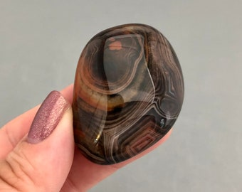 One Sardonyx / Silky Agate Palm Stone - Available in 2 Sizes