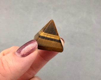 Mini Tigers Eye Pyramid