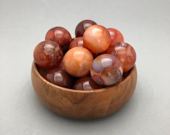 "A Mini Carnelian / Agate Sphere (1"" diameter)"