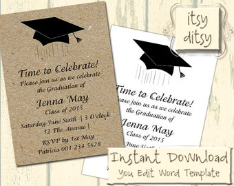 Graduation Invitation Template | Graduation Invitation Etsy