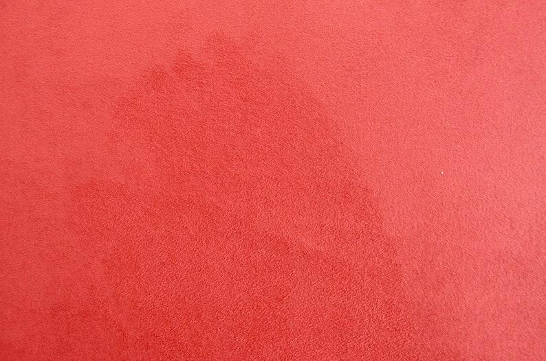 Double face redbrown microfibre ultrasuede