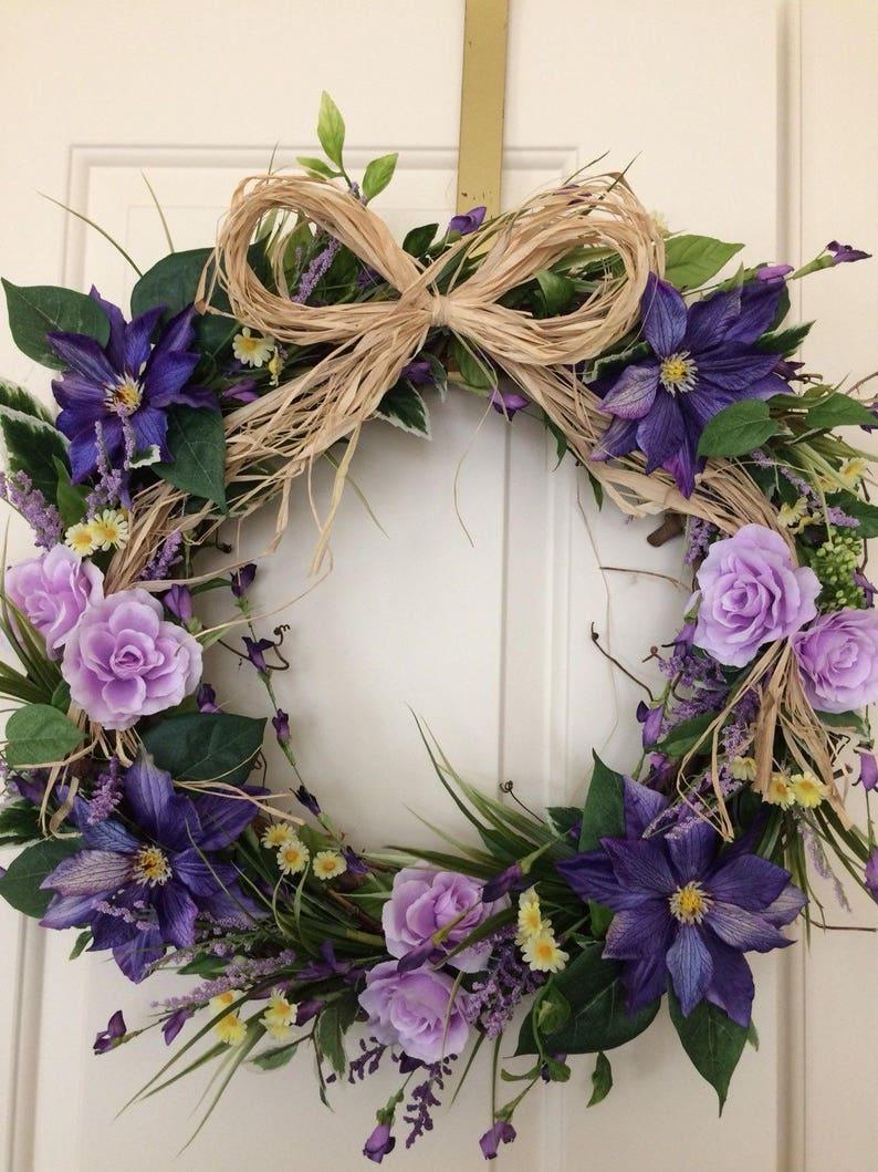 Beautiful Mother\u2019s day,Easter,Spring Wreath,Country Wreath,Garden Wedding Wreath