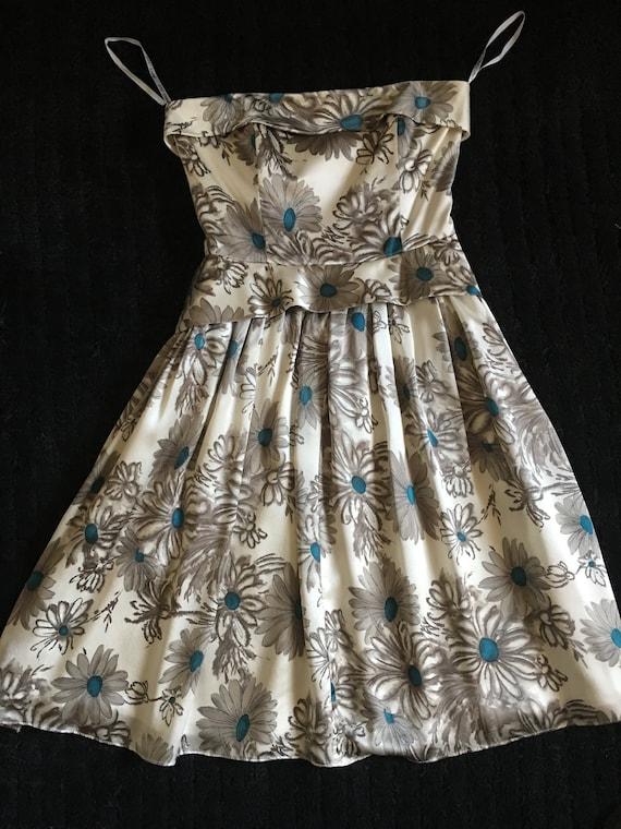 Betsey Johnson Silk Strapless Fit & Flare Dress Vi