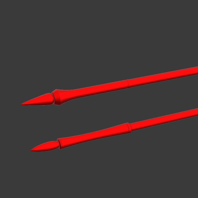 Files for 3D printing Scathach Fatego Cosplay Spears