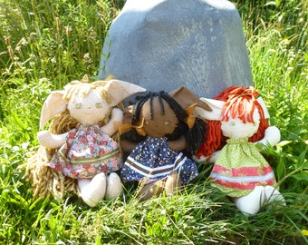 mimin ragdolls, woodland fantasy dolls