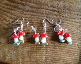 toadstool earrings