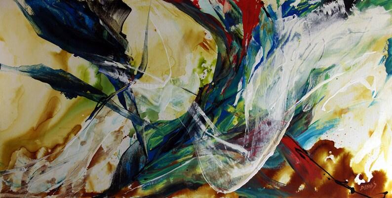 Grande Peinture Abstraite Contemporaine Original Fine Art Sur Etsy