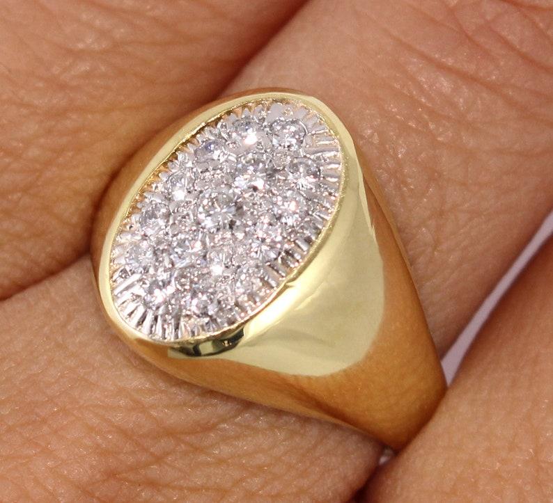 fcd315166f3d1 Cartier Diamond Ring. Cartier 18k Gold Diamond Ring. Signed Cartier Ring.  Cartier Ring Circa 1960's. Cartier Pave Diamond Ring.