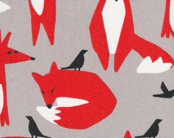 Foxes, Wildlife Collection, Ophelia Pang, Canvas , organic cotton, cloud nine fabrics, 10 oz canvas , 57 58 inches wide