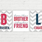 Brothers wall decor | boys room decor | brothers sign | boy nursery decor | big brother little brother | twins brothers art | brother decor