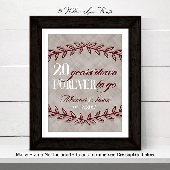 20th Anniversary Gift For Husband Or For Wife 20th Wedding Etsy