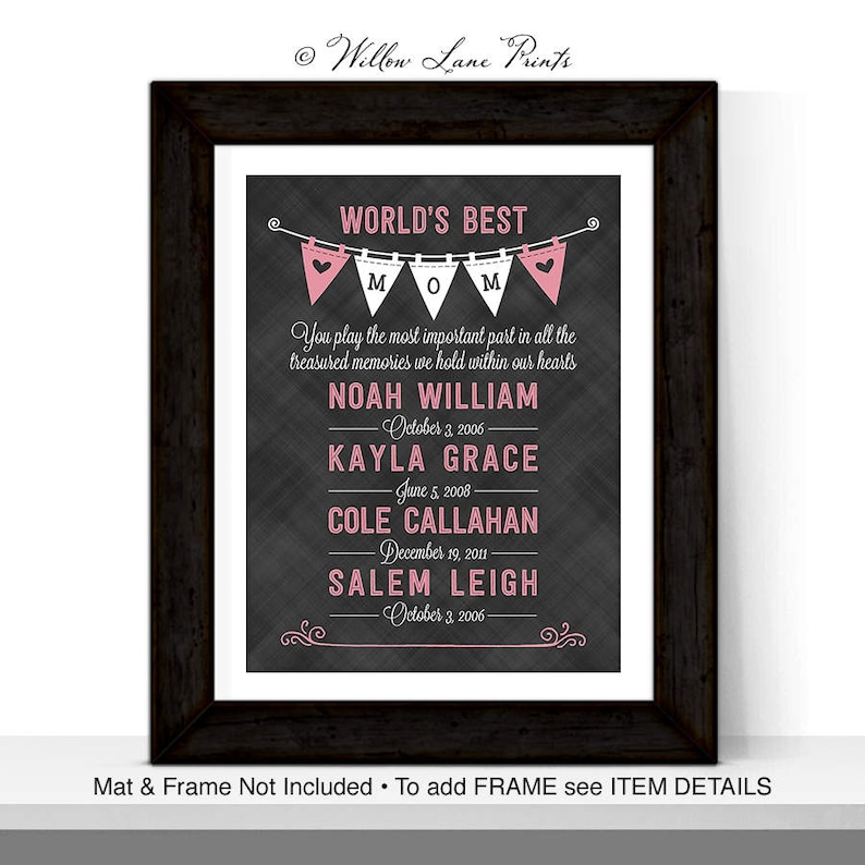 Personalized Gift For Mom Mothers Day Wife
