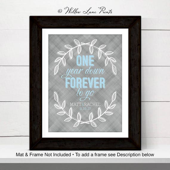 Personalized Wall Art For Couple Custom First Anniversary
