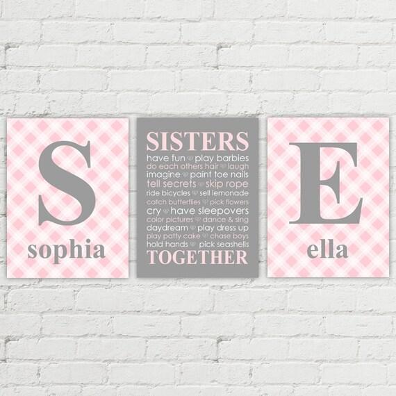 Twin Nursery Decor Baby Gifts Girls First