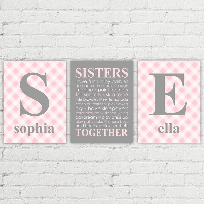 twin nursery decor  twin baby gifts  twin girls first image 0