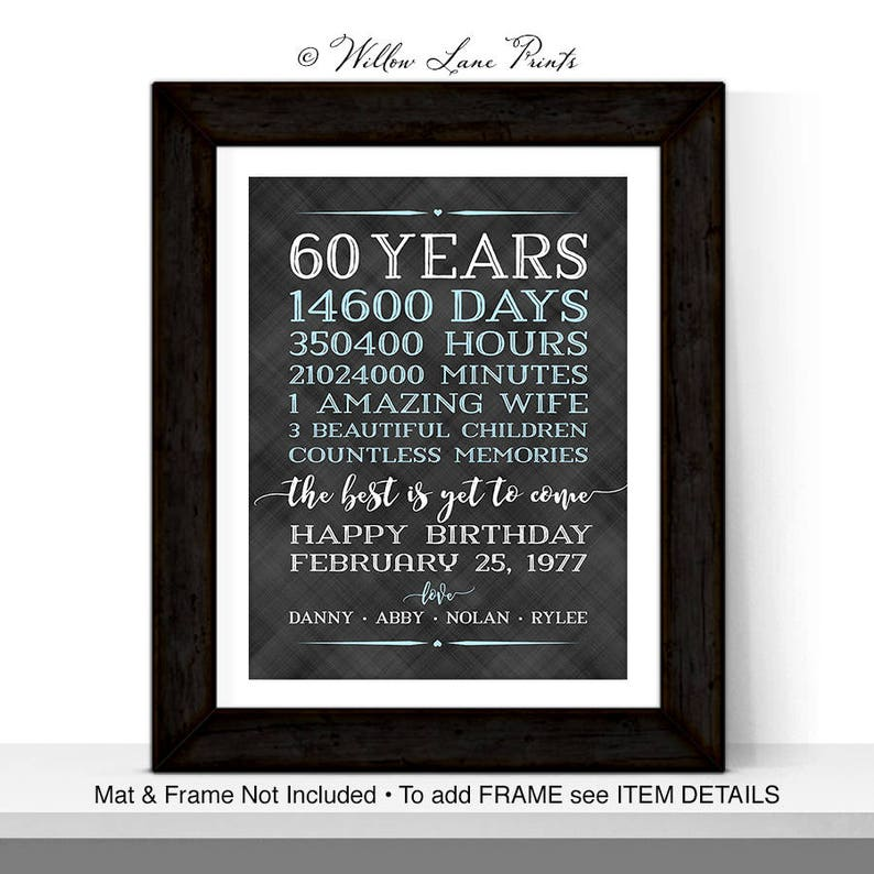 60th Birthday Gifts For Men Him Husband Adult Gift