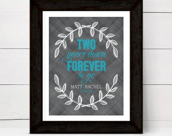Cotton anniversary gift for her him men | 2nd anniversary gift for wife husband | second anniversary gift for couple | print or canvas