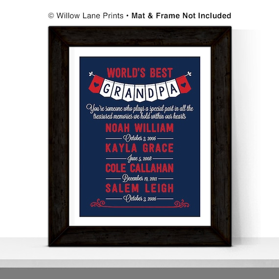 personalized grandpa christmas gift for grandfather grandkids