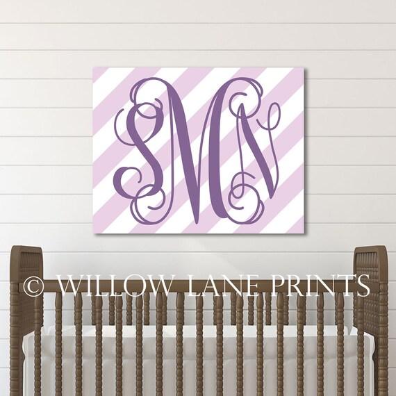 purple nursery decor girl, girls bedroom wall decor ...