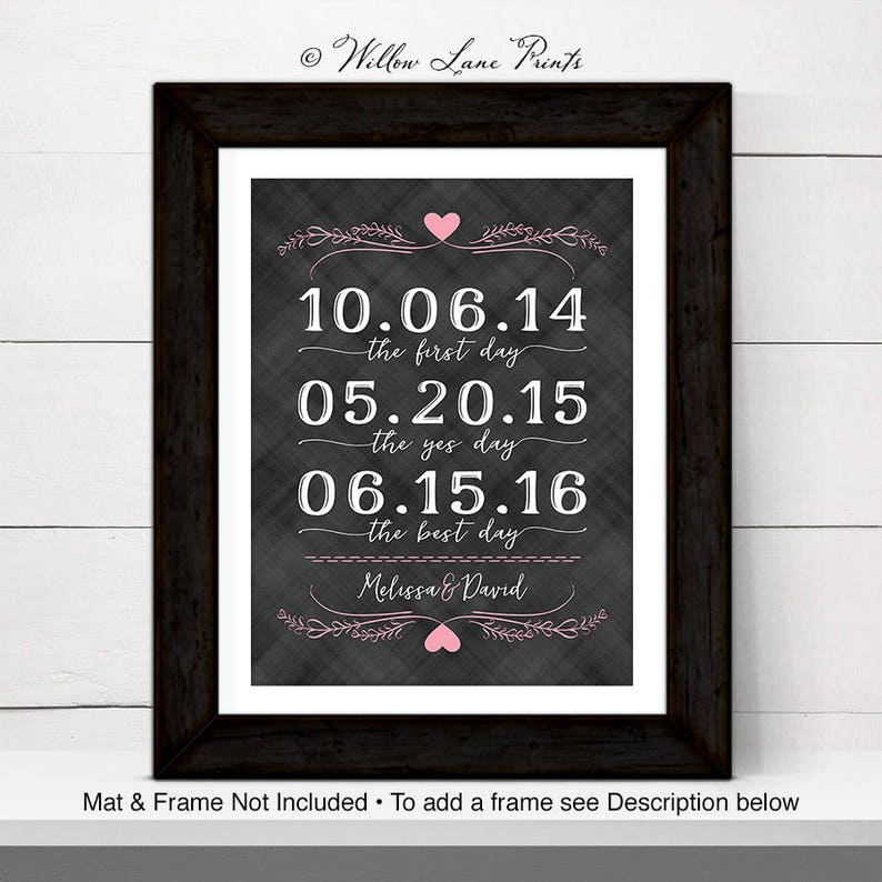 personalized wall art for couple 1 year anniversary gift for image 0