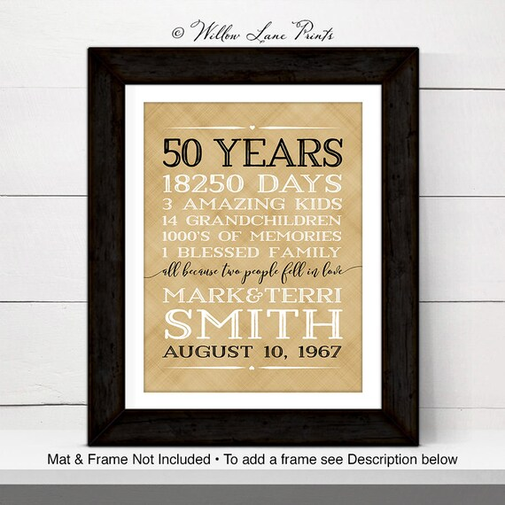 50th Anniversary Gift Ideas 50 Year Anniversary Gift For Etsy