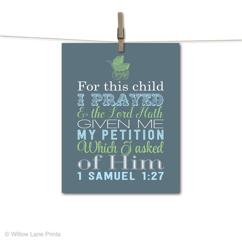 Baby boys scripture wall art christian nursery decor slate image 0