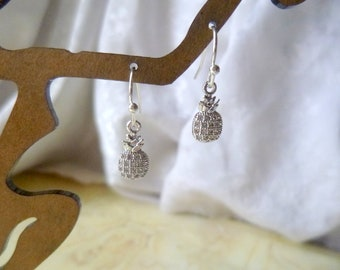 6d136aa4897f88 Tiny Pineapple Earrings, Pineapple Earrings, 3 Colors to Choose From