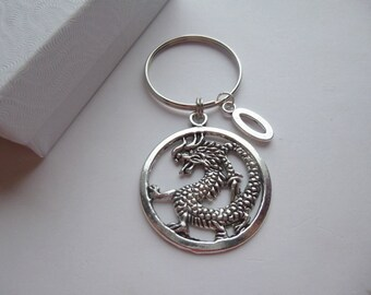 Large Personalized Dragon Key Chain, Personalized Dragon Key Chain, Dragon Key Chain, Dragon Key Ring, Personalized Dragon Key Ring, K19